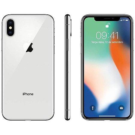 iPhone X 64gb Apple 4G Desbloqueado Branco com Prata- Produto de Vitrine Usado com Garantia de 90 dias