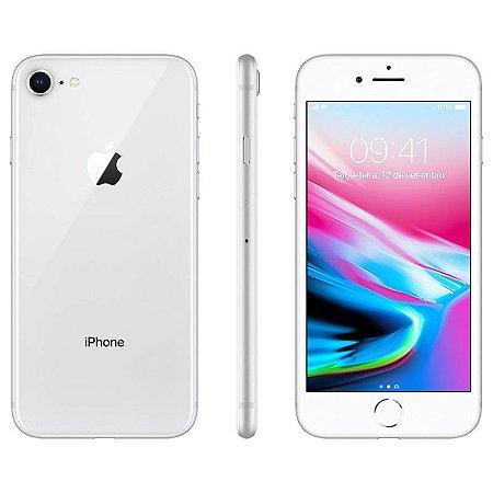 iPhone 8 256gb Apple 4G Desbloqueado Prateado - Produto de Vitrine Usado com Garantia de 90 dias