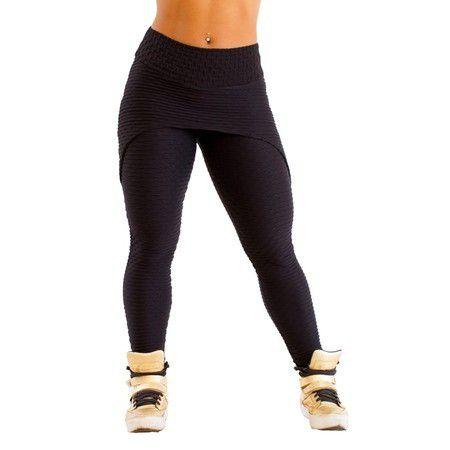 Legging Sainha Jacquard Trend Preta