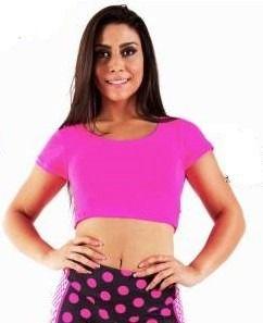 Blusa Curta Dry Rosa Flúor