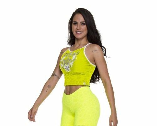 Blusa Love Mandala Amarelo Flúor