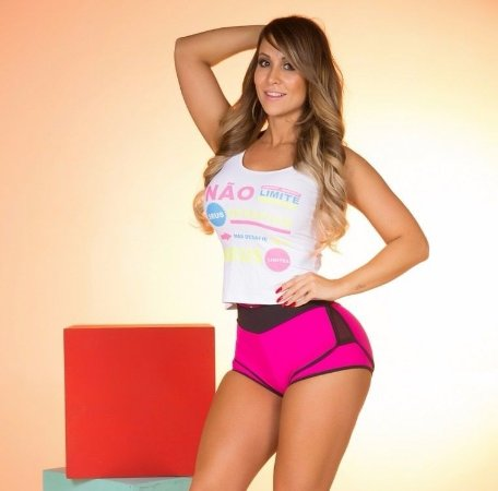 Short Light com Zíper Pink