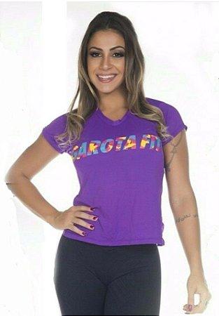 Camiseta Silk Dry Roxa