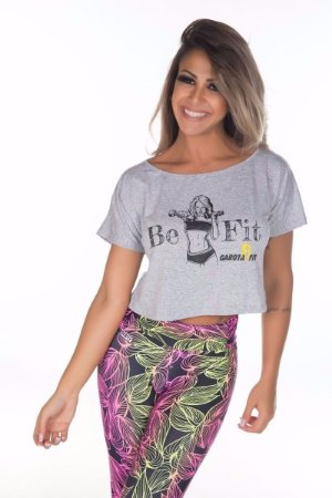 Blusa Cropped Be Fit Mescla
