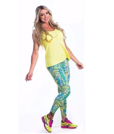 Legging Estampada Verde