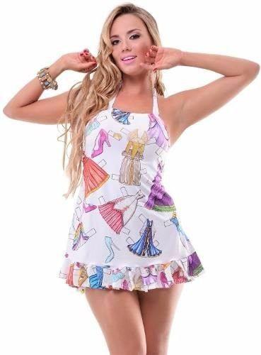 Vestido de Praia Babado Princess Classic