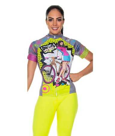 Camisa Feminina Manga Curta Bike Cinza