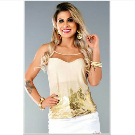 Blusa Tela Gold
