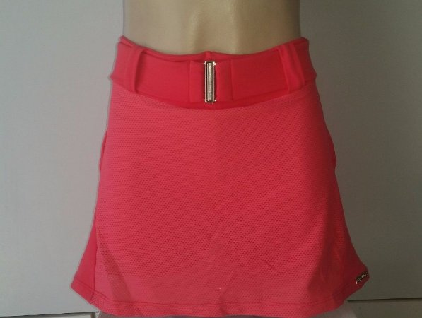 Short Saia Cinto Cereja