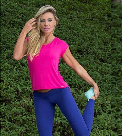 Blusa Mullet Tiras Shine Pink