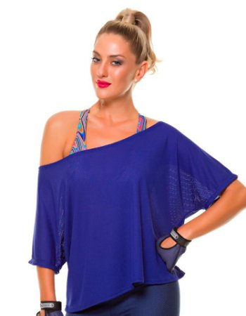 Blusa Larga Azul Royal