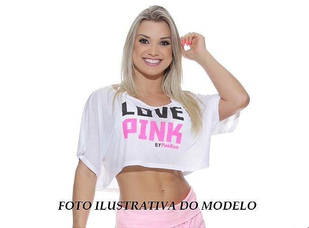 Mini Blusa Love Pink Preta