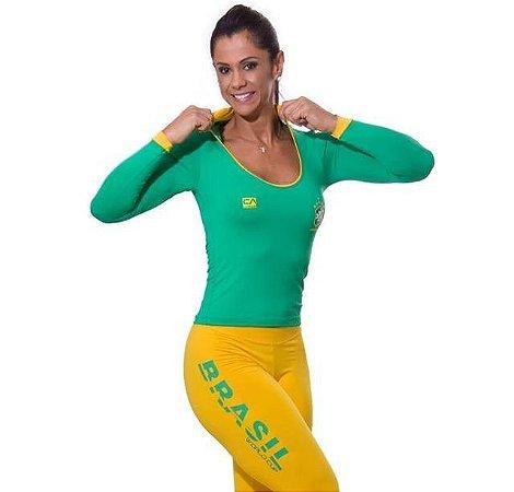 Blusa Manga Longa World Cup Brasil Verde