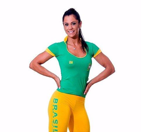 Blusa Manga Curta World Cup Brasil Verde