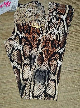 Calça Legging Cós Drapeado Cobra
