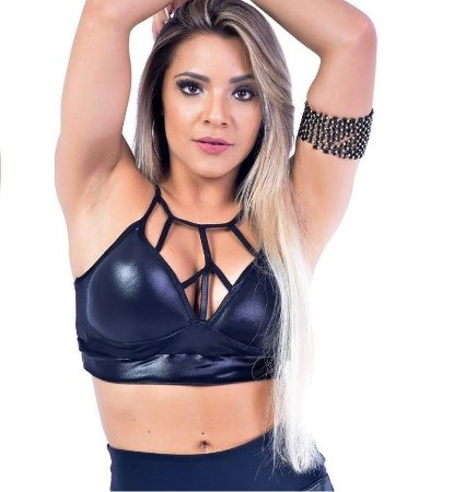 Top Strappy Cirre Preto