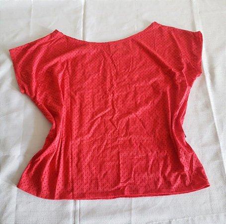 Blusa Canoa Furadinha Vermelha