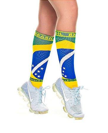 Meia Longa Ciclismo Fitness Bandeira Brasil