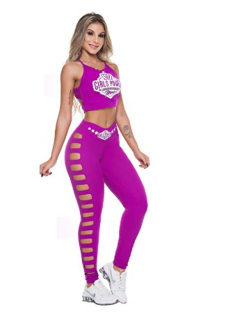 Legging Power Roxo