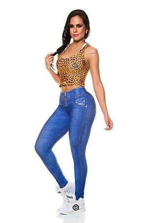 Legging Digital Jeans Azul Marinho