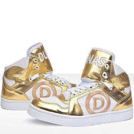 Tênis Dourado Branco (PEQUENA AVARIA)