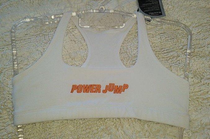 Top Nadador Branco Power Jump (PEQUENA AVARIA)