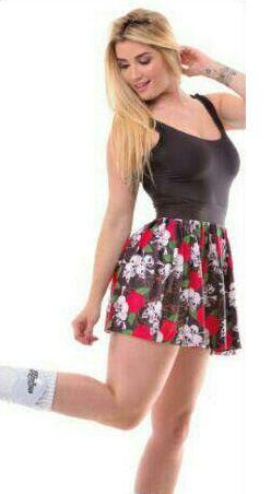 Vestido Casual Caveira Rosas