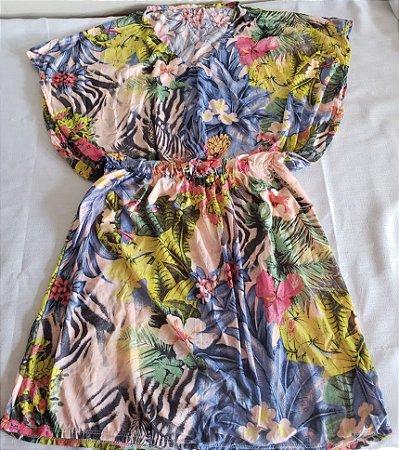 Vestido saída de Praia Flowers