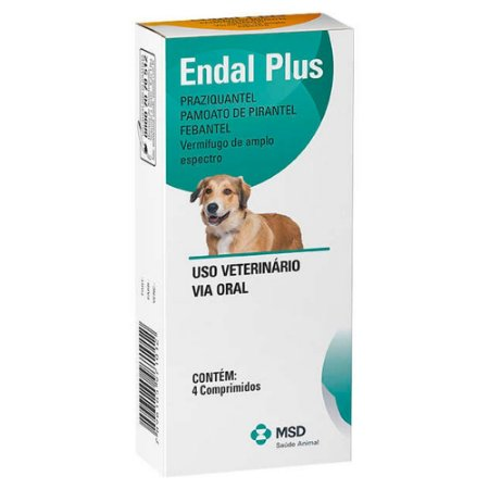 MSD Endal Plus com 4 Comprimidos