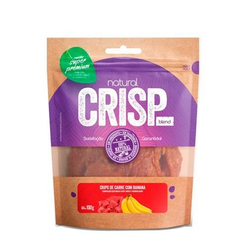 Petisco para Cães Natural Crisp Chips de Carne com Banana 100g