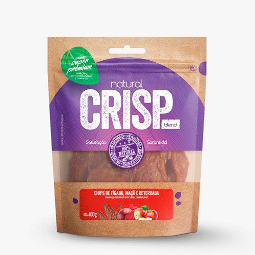 Petisco para Cães Natural Crisp Chips de Fígado, Maçã e Beterraba 100g