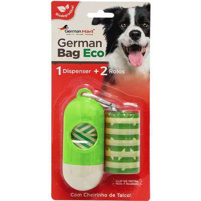 Kit Saquinhos Higienicos German Hart Bag Eco Dispenser Cata-Caca Bambu