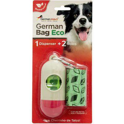 Kit Saquinhos Higienicos German Hart Bag Eco Dispenser Cata-Caca Folhas