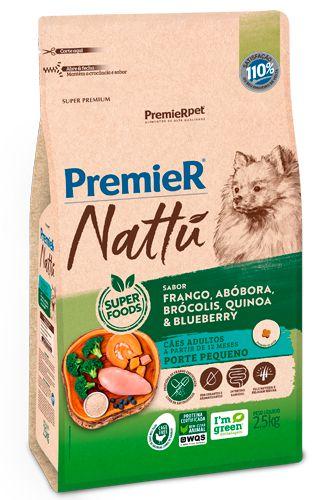 Ração para Cães Adultos Premier Nattú Raças Pequenas sabor Abóbora