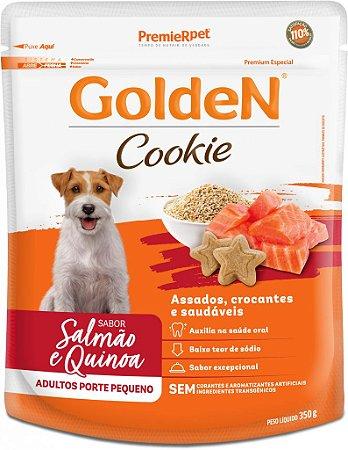 Biscoito para Cães Adultos Golden Cookie Salmão e Quinoa Pequeno Porte 350g