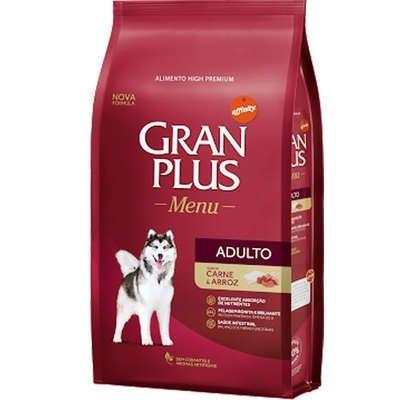 Ração Gran Plus Menu para Cães Adultos Carne e Arroz 3kg