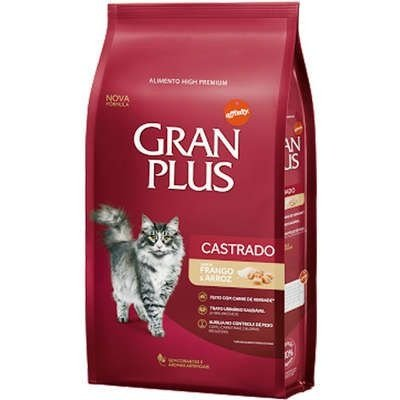 Ração Gran Plus para Gatos Castrados Adultos Frango e Arroz 1kg