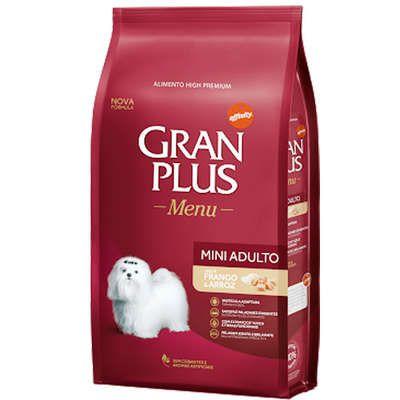 Ração Gran Plus Menu para Cães Adultos de Raças Pequenas Frango e Arroz 1kg