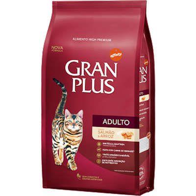 Ração Gran Plus para Gatos Adultos Salmão e Arroz 1kg