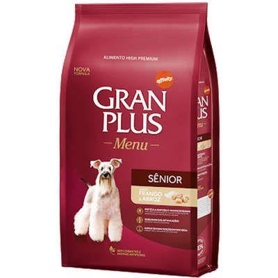Ração Gran Plus Menu Sênior para Cães Idosos Frango e Arroz 15kg