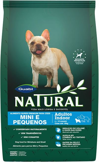 Ração Guabi Natural Cães Adultos Indoor Raças Mini e Pequenas