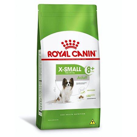 Ração Royal Canin X-Small Adulto 8+ para Cães Idosos de Porte Miniatura - Frango