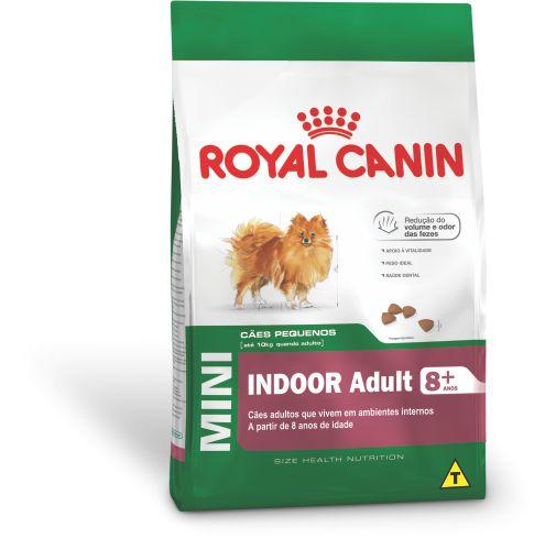Ração Royal Canin Mini Indoor Adult 8+ para Cães Adultos de Raças Pequenas em Ambientes Internos
