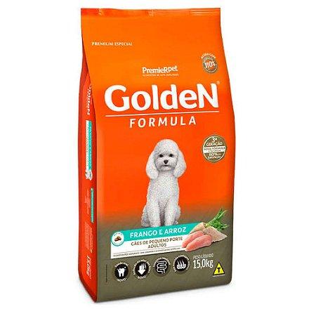 Ração para Cães Adultos Golden Formula Raças Pequenas Frango e Arroz