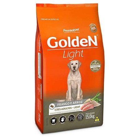 Golden Light para Cães Adultos sabor Frango e Arroz 15kg