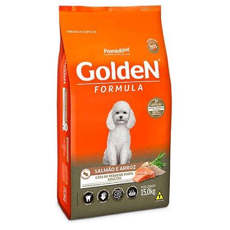 Ração para Cães Adultos Golden Formula Raças Pequenas Salmão e Arroz