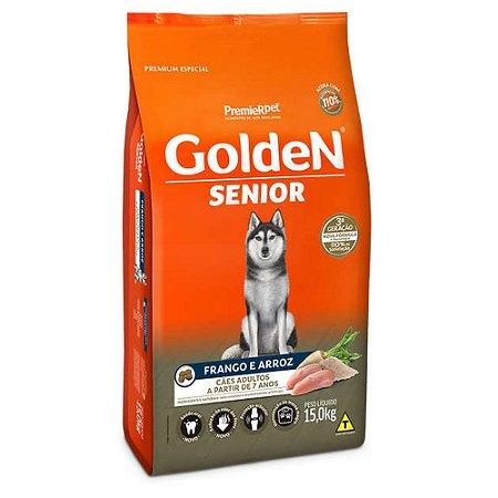 Ração para Cães Idosos Golden Formula Senior Frango e Arroz 15kg