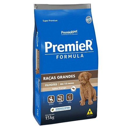 Ração Premier Formula Raças Grandes para Cães Filhotes Frango 15kg