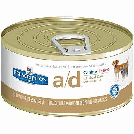 Ração Hills Canine/Feline Prescription Diet A/D Lata 156g