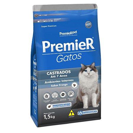 Ração para Gatos Adultos Premier Gatos Castrados Até 7 Anos Frango